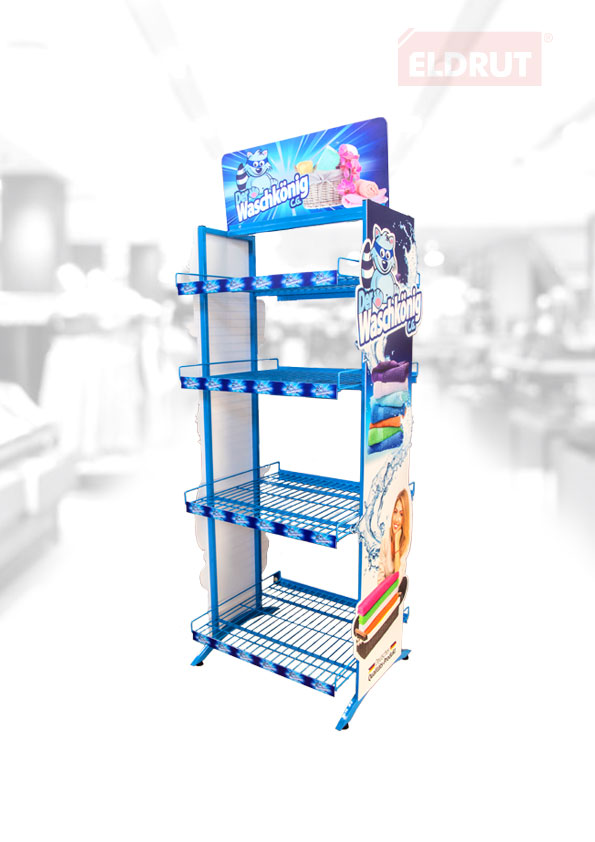 Advertising shelf for chemical products
