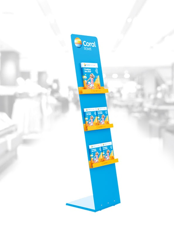 Floor stand for leaflets / catalogs