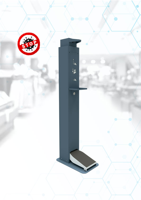 Pedal disinfection stand 1L modern