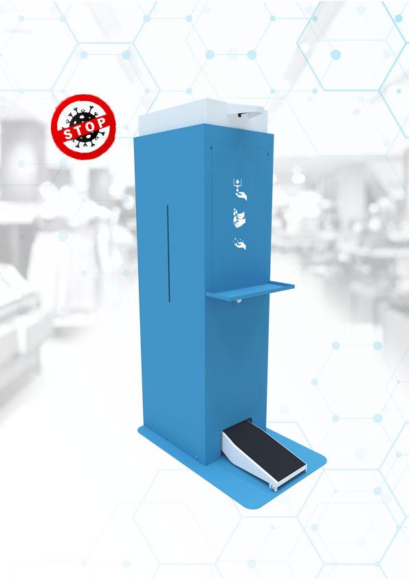 Stojak do dezynfekcji automatyczny bezpieczny 25L