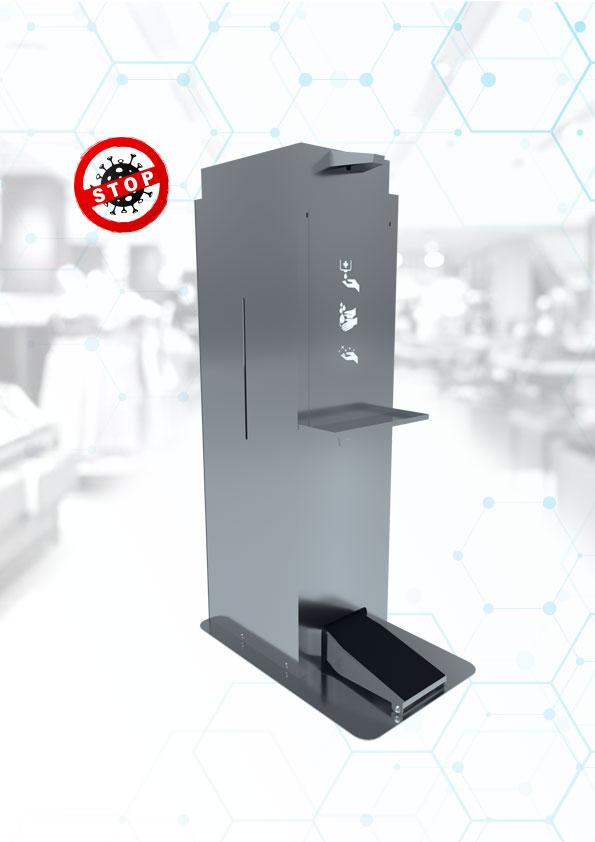 Stojak do dezynfekcji automatyczny inox 25L producent
