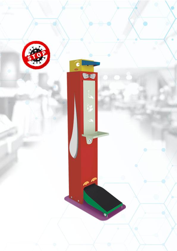 Stojak do dezynfekcji automatyczny bezpieczny