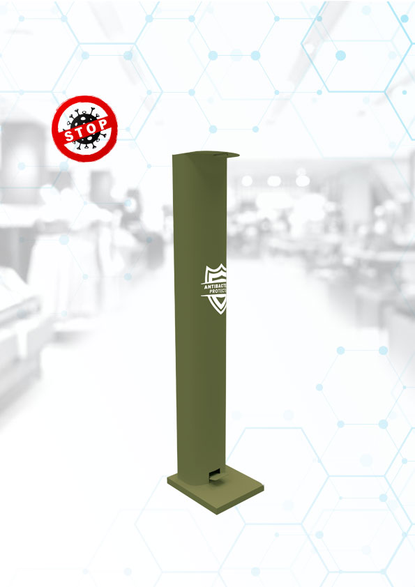 disinfection dispenser, Foot disinfection stand, mechanical, for the army, services, dispenser
