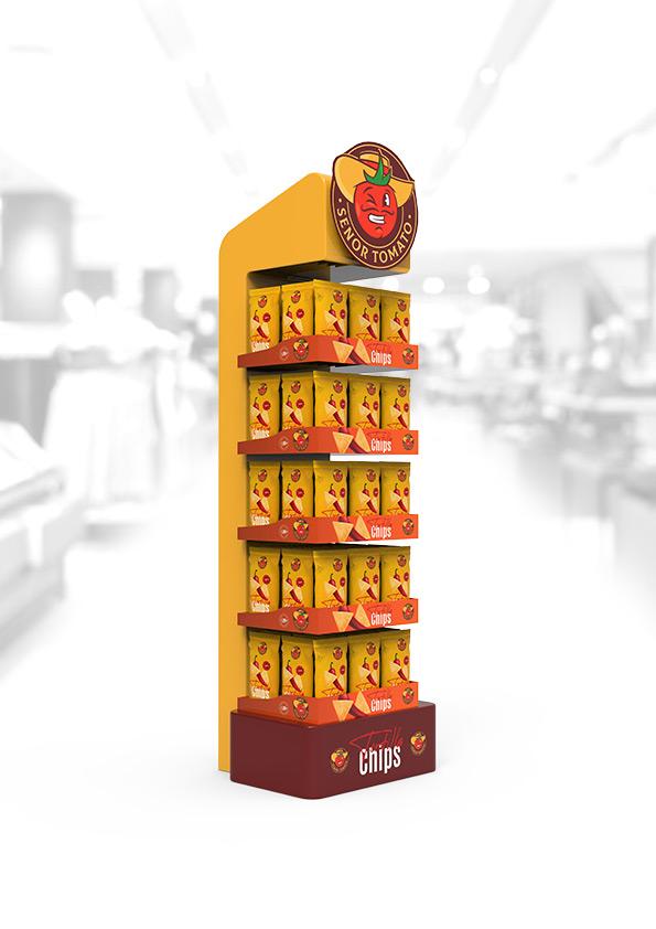 Display reklamowy na produkty FMCG