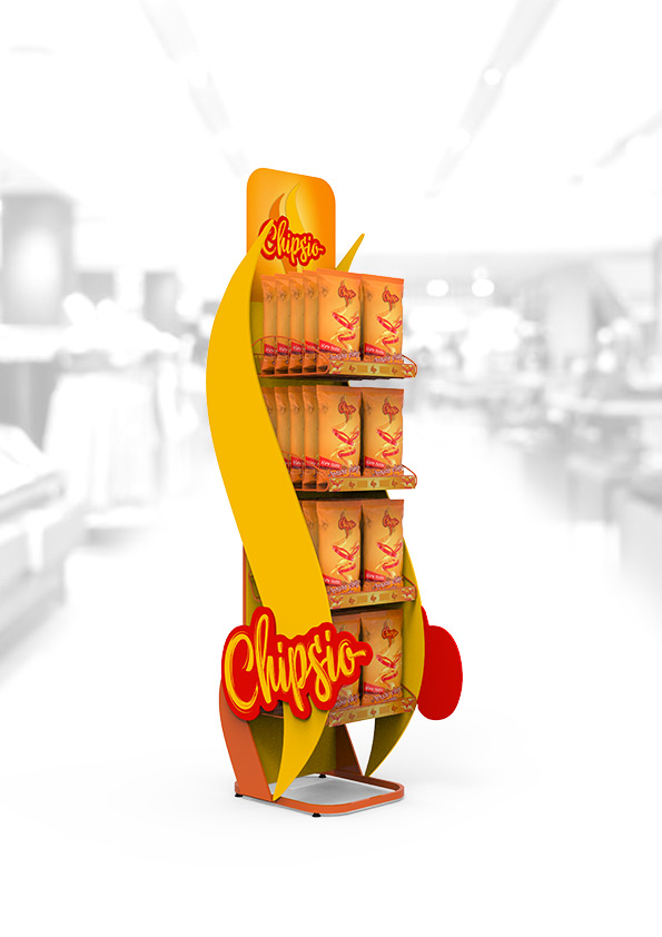 Ekspozytor podłogowy na chipsy